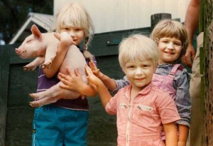 Hannah, Asa, and Cecily Pingree, 1984