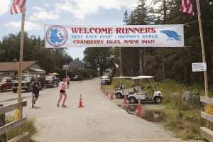 One end of the out-and-back course of the Great Cranberry Ultra, in its final running in 2013