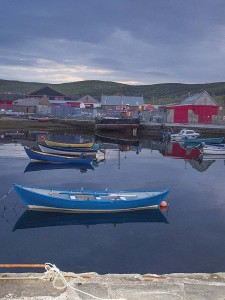 The waterfront in Lerwick, in the Shetland region.