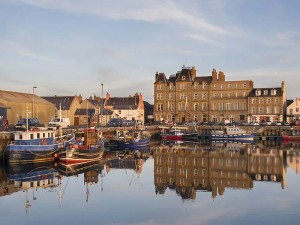 The waterfront at Kirkwall, in Orkney.