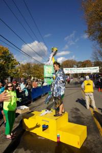 Women's marathon champion Leah Frost.