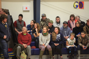 spectators at a North Haven basketball game